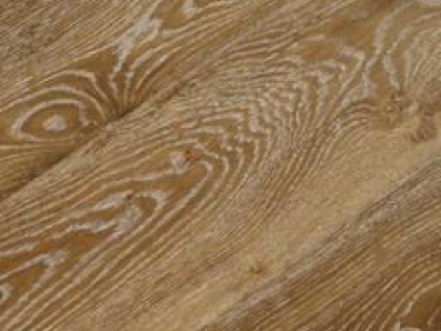 Smoked and Whitewashed Oak Engineered Wood Floor