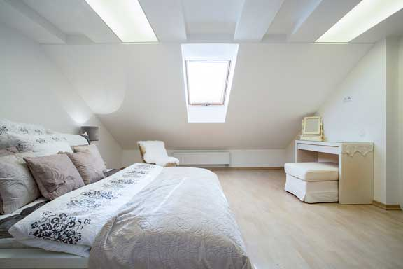 Hip to gable loft conversions bedroom image